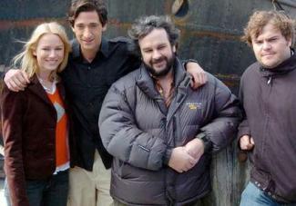 Naomi Watts, Adrien Brody, Peter Jackson y Jack Black