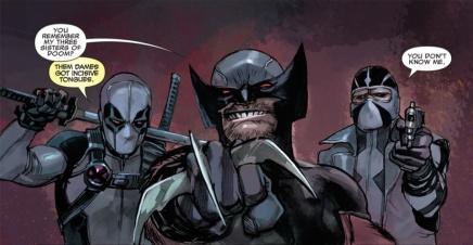 Deadpool, Logan y Fantomex (X-Force)