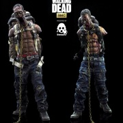 the-walking-dead-michonnes-pet-zombies-16-scale-action-figures-by-threezero-red-and-green-versions