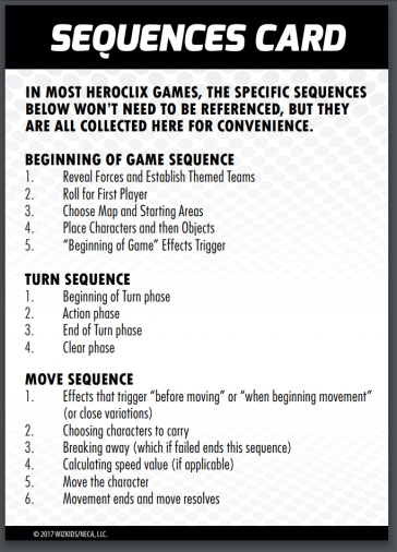 QuickStart HEROCLIX Sequence1