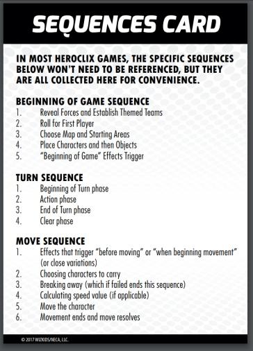 QuickStart HEROCLIX Sequence1
