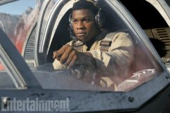 Star Wars: The Last Jedi Finn (John Boyega) in a Ski Speeder on Crait