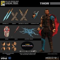 Mezco-SDCC-2017-Marvel-ONE-12-Collective-Thor-Gladiator-Figure-and-Accessories